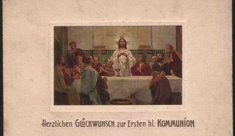 Herzlichen Glückwunsch zur Ersten hl. Kommunion